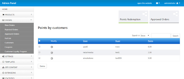 customer loyalty product atn store php script