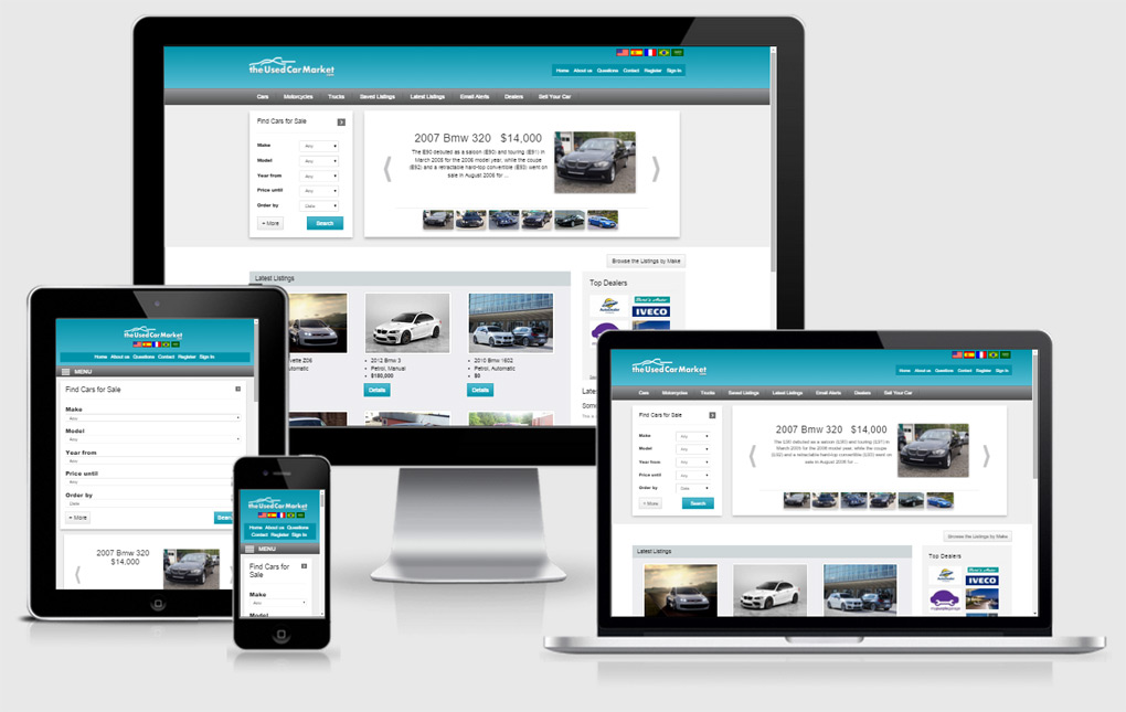 Car classifieds portal php software, responsive php script for ...