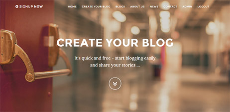 bootstrap template php blogs portal