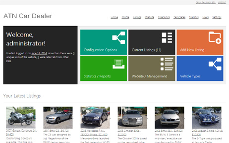 admin panel car dealer script