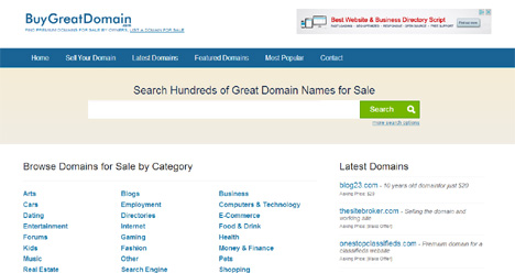 domains marketplace
