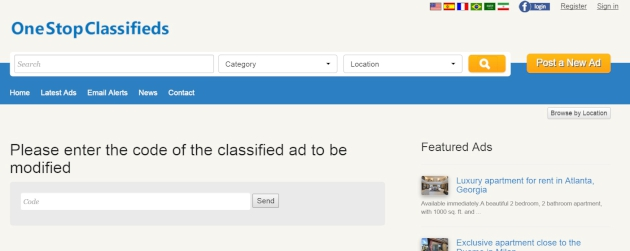 modifying an existing ad php classified software