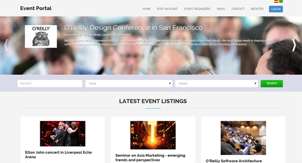 responsive php events script