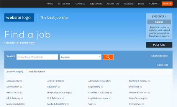 responsive php job site script  jobs portal software php