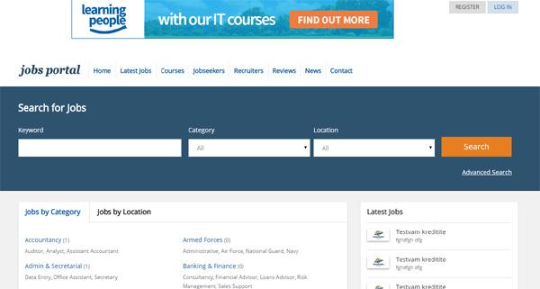 PHP software jobs portal, guión empleos php