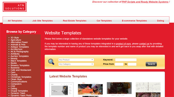Visit the new Template section on our website to find out hundreds of website templates