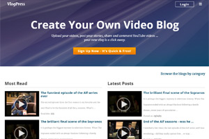 multi-user video blog hosting portal based on atn blogs