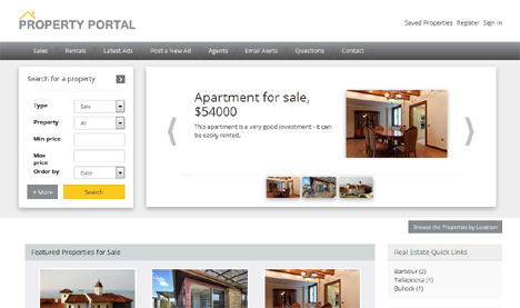 Responsive php real estate script, best property real estate ...