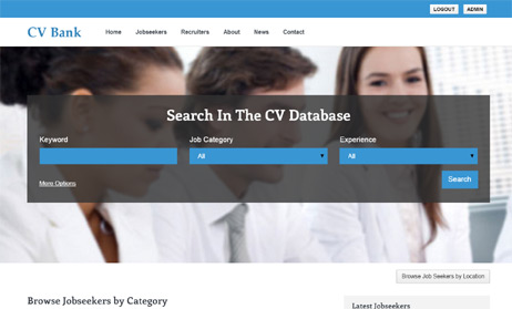 resume database script open source multi user cv portal software